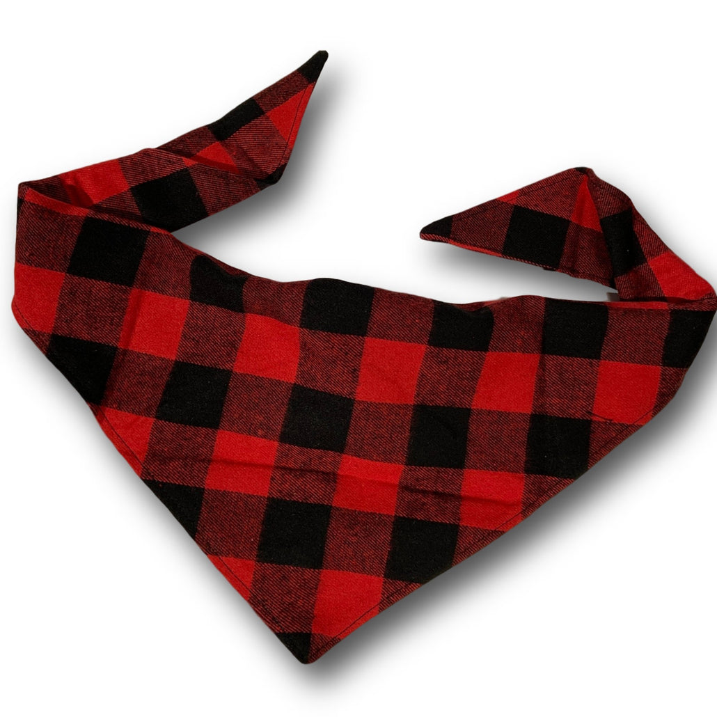 Dapper Dog Red Buffalo Plaid Bandana