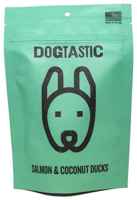 Dogtastic Salmon and Coconut Ducks Dog Treats - The Dapper Dog Box