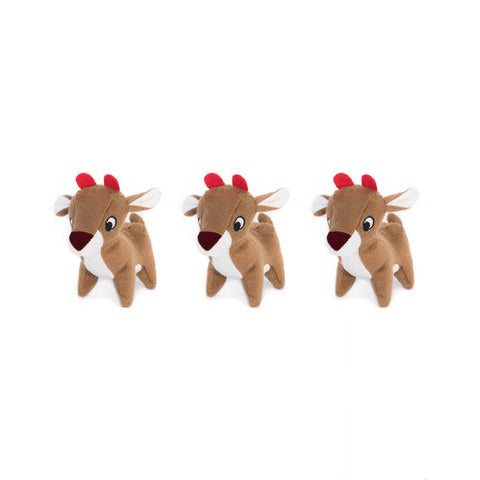 Holiday Miniz 3-Pack Reindeer - The Dapper Dog Box