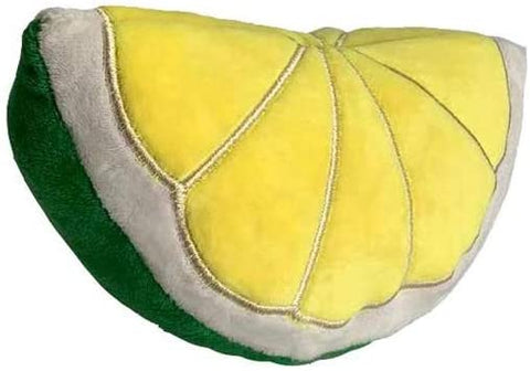 Petlou Lemon Slice Dog Toy, 8 Inch, Stuffed with Squeaker - The Dapper Dog Box
