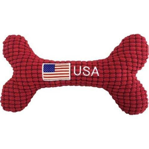 USA Bone, 10 Inch, Red Squeaker - The Dapper Dog Box