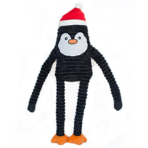 ZippyPaws Holiday Crinkle­ Penguin, Large - The Dapper Dog Box