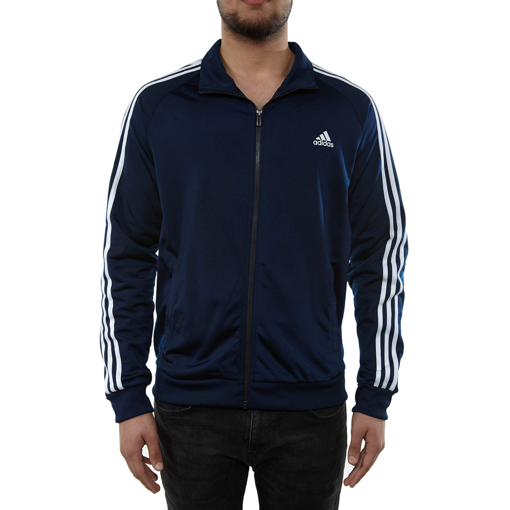 Adidas Essentials 3-stripe Tricot Track Jacket Mens Style : B47367-Navy