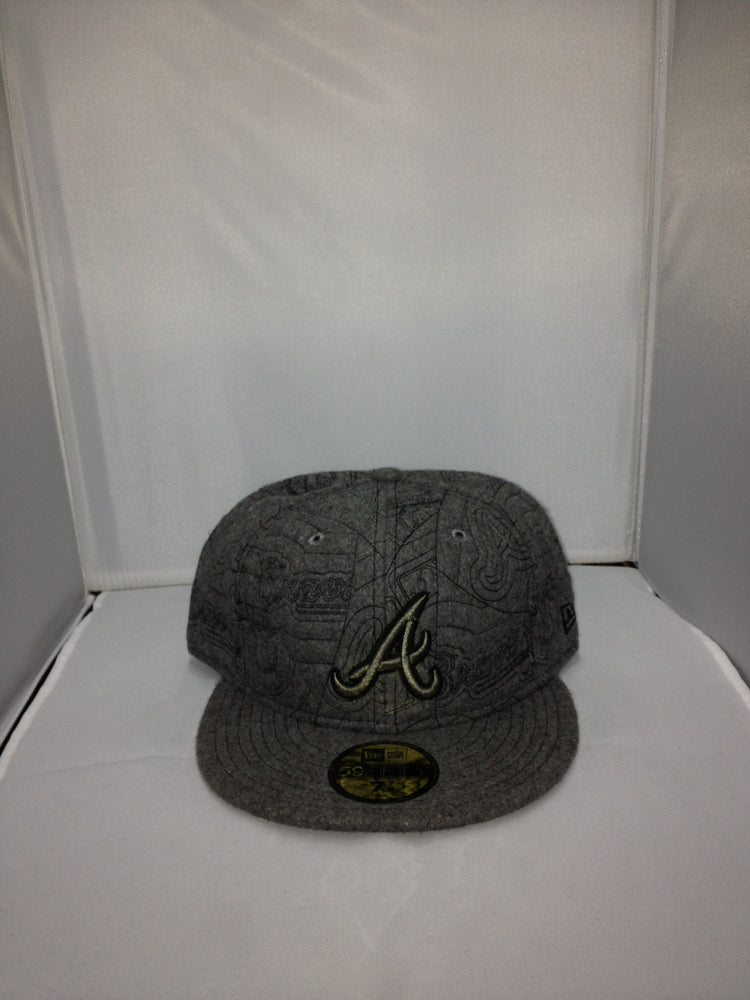 Atlanta Braves New Era Fitted GREY/BLACK 10