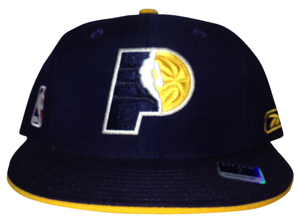 Indian Pacers Reebok Fitted Navy/Yellow/White 229