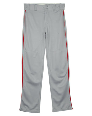 Alleson Relaxed Fit Open Bottom Elastic Waistband Baseball Pants With Braids Mens Style : 605WLB