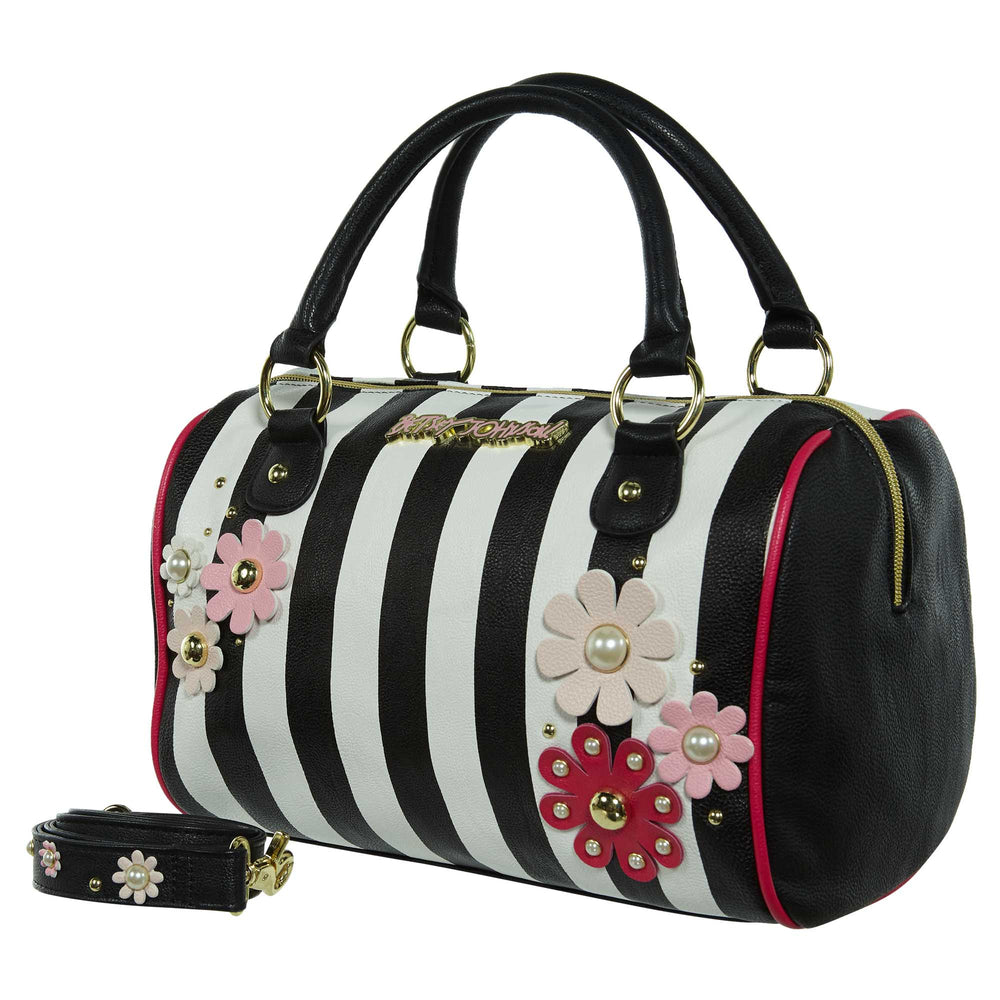 Betsey Johnson Flower Satchel Handbag Womens Style : Bb16950