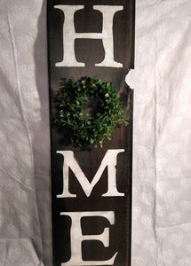 """Home"" Hand Painted Rustic Decor Sign"
