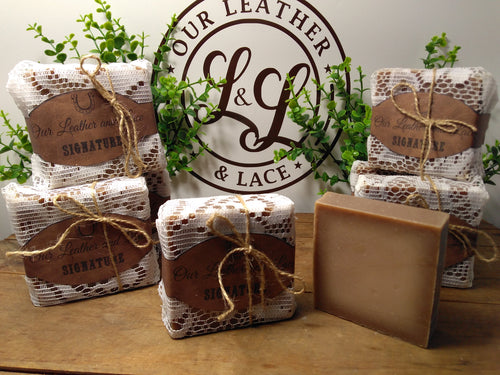 Our Leather and Lace SIGNATURE -  All Natural Handcrafted Soap