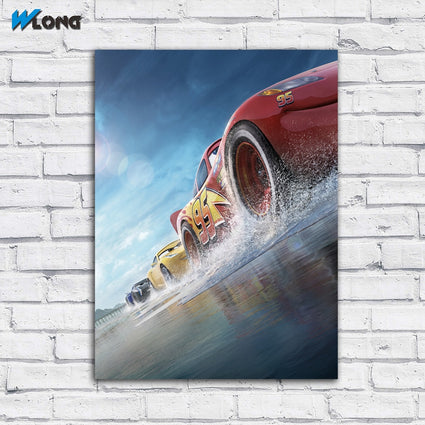 large Printing  Cars 3 Race Cars Cruz wall Art Picture Home Decor Living Room Modern Canvas Print Paintings no frame