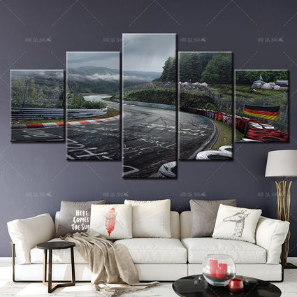 Nurburgring Rally Road Sports Car Track Print Canvas Paintings 5 Piece Landscape Wall Art Poster Living Room Home Decor Pictures