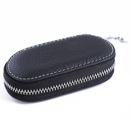 Men Key Holder Housekeeper Leather Car Key Wallets Keys Organizer Women Keychain Covers Zipper Key Case Bag Unisex Pouch Purse
