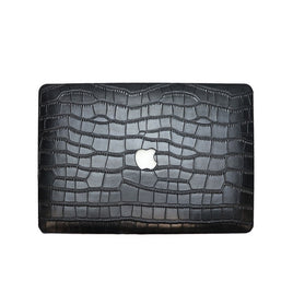 "High Quality Customized Letters Embossed Crocodile Leather Cover For Macbook Air Retina 13"" 15"" Genuine Leather Case"