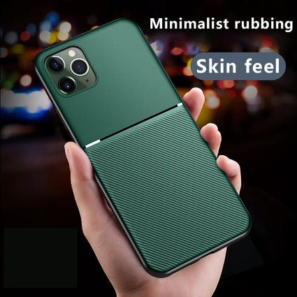 Luxury Silicone Car Magnetic Holder Phone Case For iPhone 11 Pro XS Max XR X 8 7 6s 6 Plus Ultra-thin Leather Protection Cover
