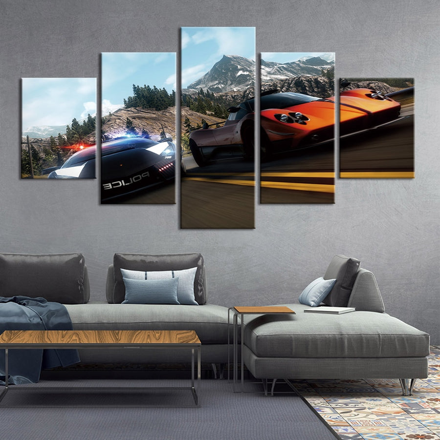 Mountain racing wall photo