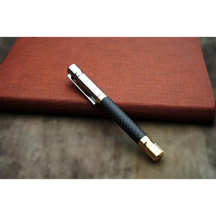 Luxury Carbon-fiber Pen With Titanium Alloy Clip  Metl Ballpoint Pen  Bussiness Writing Tool as Gift