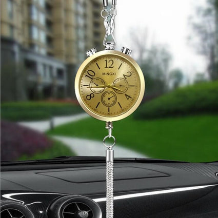 Car-styling Car Clock Interior Accessories Perfume Refill Storage Hanging Pendant Ornament Car Rearview Mirror Decoration