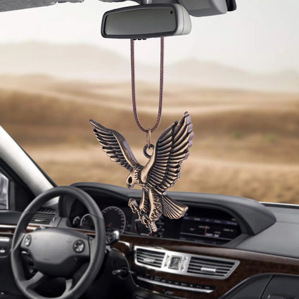 Bronze eagle car pendant