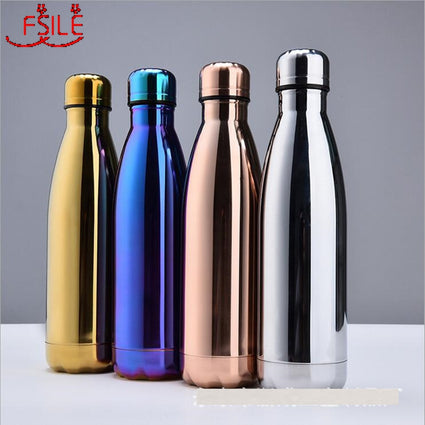 500/1000ml Double-Wall Insulated Vacuum Flask Stainless Steel Water Bottle Cola Water Beer Thermos for Sport Bottle