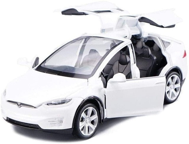 Electric Tesla model X scale car