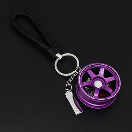 Car Key Chain Wheel For Key Ring Holder Auto Aluminum Wheels Rim Model Customize Logo Keyrings For Keys Moto Pendant Keychain