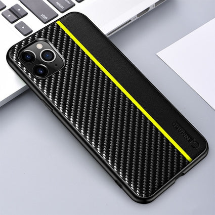 For IPhone 11 12 Pro Max Case Original Carbon Fiber PU Leather Shockproof Protection Cover  for IPhone XS XR X MAX 8 7 Plus Case