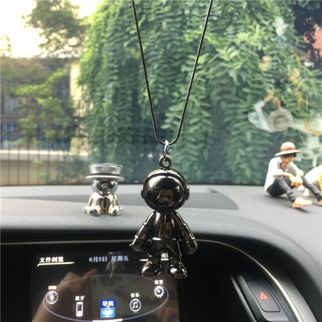 Car Pendant Astronaut Model For Car Rearview Mirror Pendant Car Interior Decoration Auto Products Accessories Interior