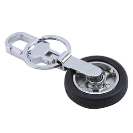 Car Wheel Keychain Creative Anti-True Rotating Tire Keychains