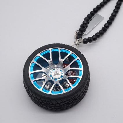 Car Ornaments Decorative Wheel Rearview Mirror Pendants Car Interior Decoration Pendants Auto Interior Decoration Accessories