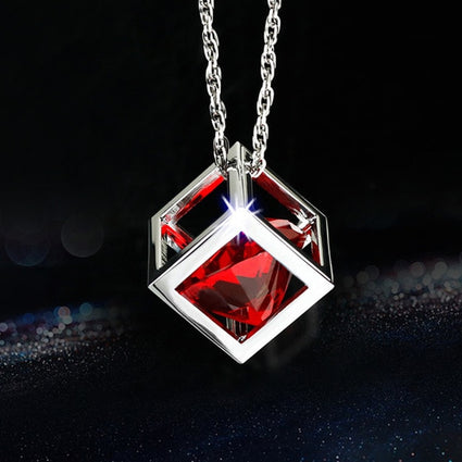 Crystal cubes car pendant