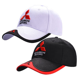 Wholesale 3D Mitsubishi Hat Cap Car logo MOTO GP Racing F1 Baseball Cap Hat Adjustable Casual Trucket Hat
