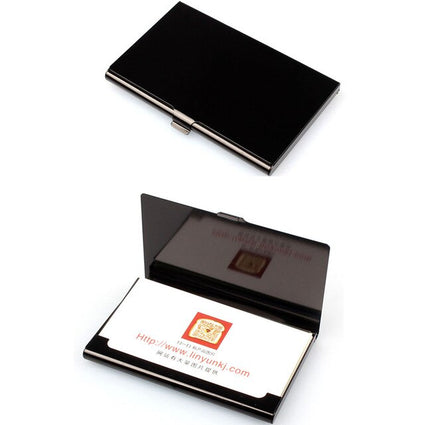 Fashion Business Card Case Stainless Steel Aluminum Holder Metal Box Cover Credit Men Business Card Holder Metal Wallet