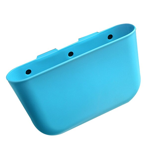 In-car Trash Can Car Storage Compartment Vehicle Small Garbage Bin Hanging Type Solid Color