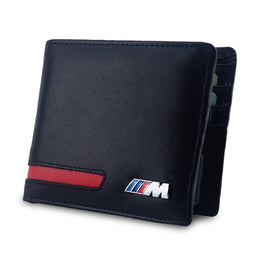Leather Logo Men Wallet Case Car Wallet Driver License Bag for BMW X5 F15 E90 F30 M E46 E36 E60 F30 F10 E39 E91 E92 E64 E65 X3