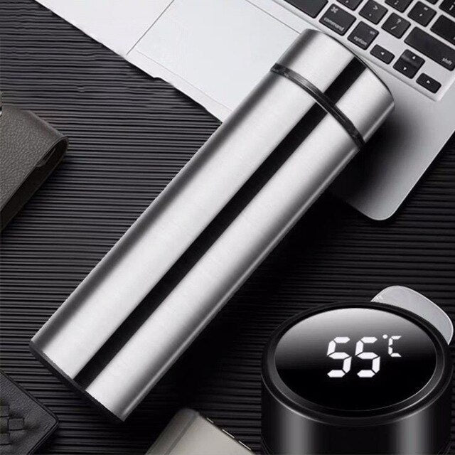 Intelligent Stainless Steel Thermos Water Bottle Temperature Display Vacuum Flasks Travel Car Soup Custom logo Thermos Bottlecup