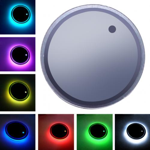 Universal LED Car Cup Holder RGB Light Mat Pad Drink Coaster Interior Decoration Car Cup Pad LED Car Atmosphere Light