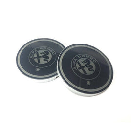LED light Alfa Romeo logo car coaster (2x)