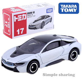 Takara Tomy Tomica No.17 BMW I8 CAR Model Kit 1/61 Scale Electric Vehicle Mould E-POWER Diecast Baby Toys Funny Magic Bauble