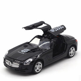 1:32 Scale Alloy Car Model Diecasts Toy Music and Light Sports Car Pull Back High Simulation Kid Toys For Children Gifts NTY0126