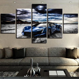 Landscape Canvas Painting HD Print Artwork Modern 5 Pieces Cool Sports Car Pictures Home Decorative Wall Art Unique Posters
