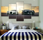 Wall Art Canvas Painting Modern Home Decoration 5 Panel Sports Car For Living Room HD Print Painting Modular Pictures Frame