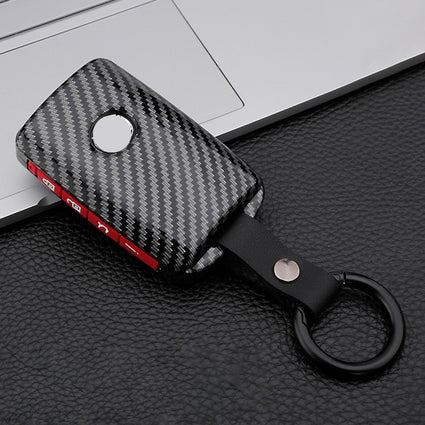 Carbon Fiber+Silicone Car Key Cover Case For Mazda 3 Alexa CX-30 CX30 CX5 CX 5 CX-5 CX8 CX9 CX4 2019 2020 Auto Accessories