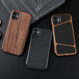 Vintage Carbon Fiber Soft Case for IPhone 11 12 Pro X Xr Xs Max Shockproof Silicone Phone Cover for IPhone 8 Plus 7 6S 6 5 5S SE