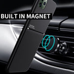 Magnetic Car Phone Case  for iPhone 11 Pro MAX X XR XS Max 6s 7 8 Plus SE2 Built-in Magnet Metal Plate Soft TPU Shockproof Cover