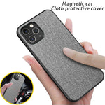 Luxury Cloth Car Magnetic Phone Case For iphone 11 12 Pro Max Slim Back Cover For iphone 11Pro XS MAX XR X 7 8 Plus SE 2020 Case