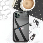 Luxury Car BMW Logo Phone Case For Iphone 11 Pro MAX XR X 7 8Plus DIY Shockproof Glass Soft Silicone Edge