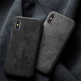 Alcantara and leather case for iPhone