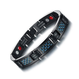 Modyle Carbon Fiber Bio Energy Power Magnetic Bracelet for Men Bangle Stainless Steel Health Care Male Jewelry