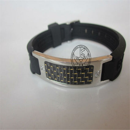 Stainless steel and silicone bracelet