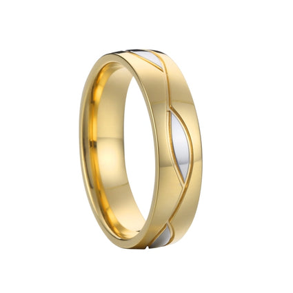 Gold Color Men's Wedding Band Engagement Rings Size 6-14 Available